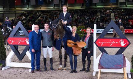 Das Quartett der Zukunft bei der PARTNER PFERD –  Junger Holsteiner gewinnt den Goldenen Sattel