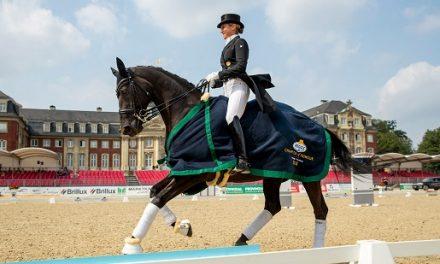MEGGLE Champion of Honour  vor dem Münsteraner Schloss – Victoria Michalke überzeugt durch Kollegialität und Harmonie