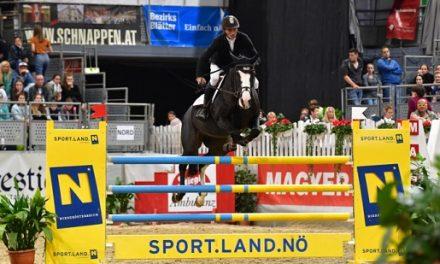 Zwei Finalsiege für Österreich & Jörne Sprehe (GER) gewinnt den Preis von Wr. Neustadt vor Stefan Eder (S) und Dieter Köfler (K)
