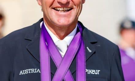 Medaillenzeremonie für Europameister Pepo Puch